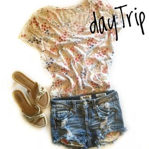 Daytrip Capricorn High Rise Jean Shorts 25